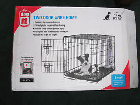 Dog Cage Dogit 2 Door Black Wire Home, Small