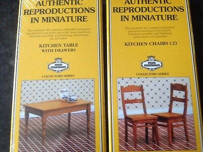 1:12 Scale Doll House Table And Chairs Kits - Mini Mundus 40067 & 40068