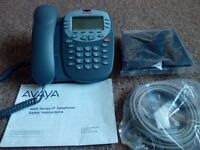 AVAYA 4610SW IP Corded Telephone Business Desk Phone - GREY