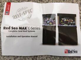 Red Sea Max C 130 Marine Aquarium & Black Cabinet RRP £750