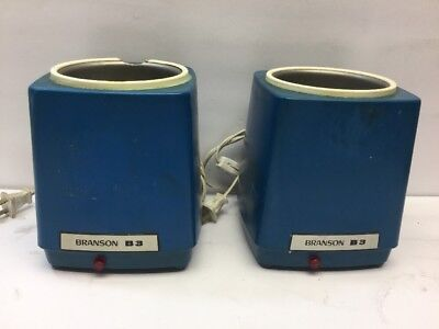 Pair Of Branson B-3 Ultrasonic Cleaner. 117v 5060hz 40 Watts.