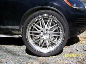 """4 - 22"""" Tires and Rims for Touareg or Porsche Canyenne"""