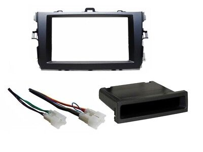Single Double DIN Stereo Dash Kit Install Harness fits 2009-2011 Toyota
