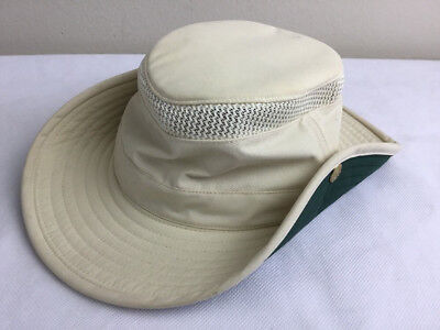 TILLEY Endurables Airflo Hat Natural/Green LTM3 Size 7 1/8 Unisex Hiking Outdoor