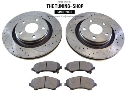 2x Front Brake Disc Rotors 68040177 AA & Brake Pads D1273 CBK For JEEP WRANGLER
