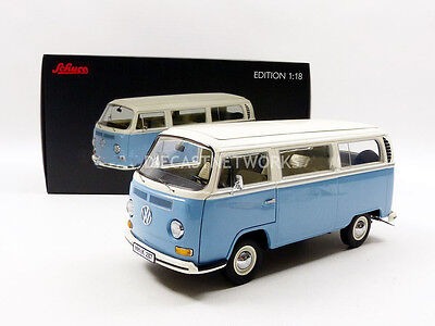 Schuco 1967-1970 Volkswagen Combi T2a L Blue and White in 1/18 Scale New!