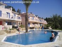 3-bedroom villa holiday accommodation overlooking pool for rent in Kato Paphos Cyprus, sleeps 8