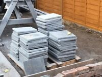 Slate paving slabs for 6 metres sq (295x295mm 15-20mm thick) (75 slabs)