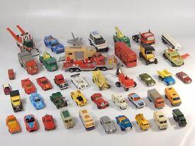 RETRO VINTAGE MATCHBOX LESNEY COLLECTION OF 94 CARS TRUCKS VEHICLES ETC JOB LOT