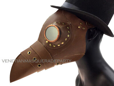 The Plague Doctor Costume Prom Party Bird Bandage Goggle Raven Mask - Steampunk - Raven Mask Costume