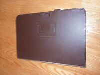 """10"""" Tablet Cover in Brown Leather"""
