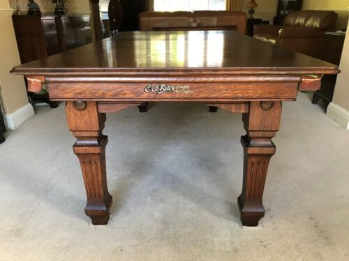 Riley Slate Bed Snooker / Dining Table Circa 1910 6 X 3