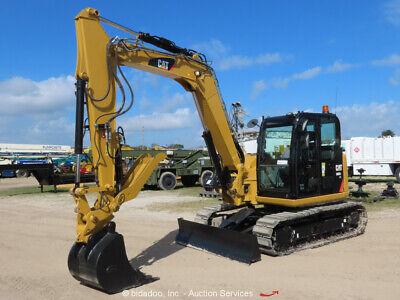 2017 Caterpillar 308e2cr Mini Excavator Cab Ac Hyd Thumb 30 Bucket Bidadoo