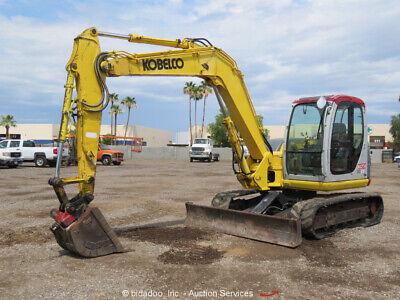 2006 Kobelco Sk80cs-1e Midi Excavator Rubber Tracks Cab Backhoe Aux Hyd Bidadoo