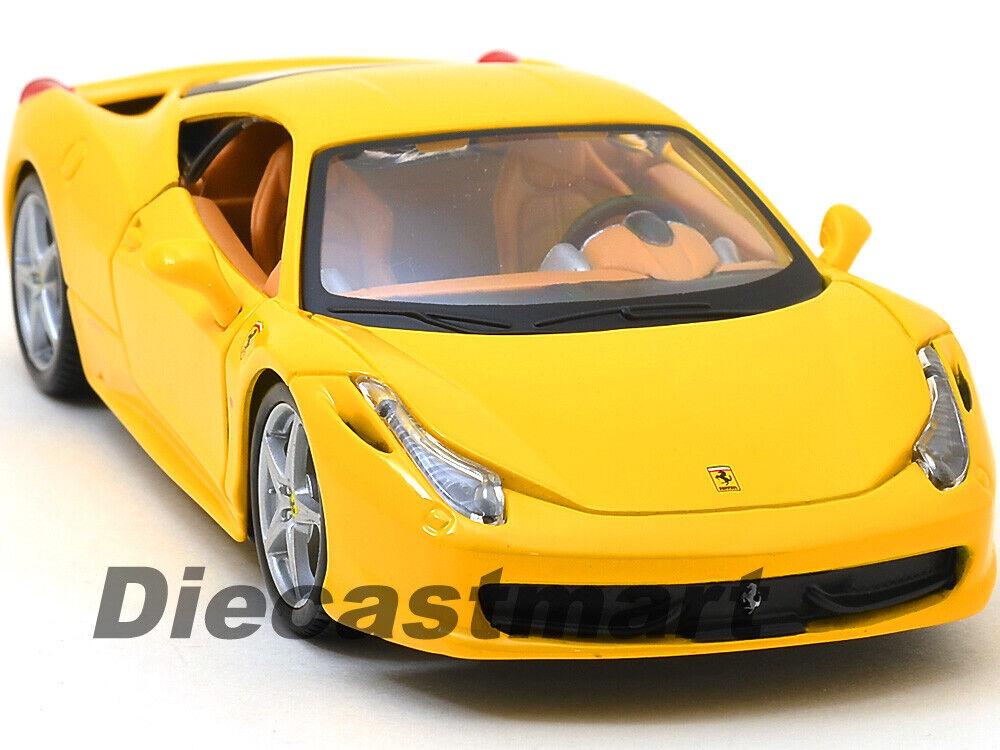 FERRARI 458 ITALIA RED 1:24 DIECAST MODEL CAR BY BBURAGO 26003 NEW FOR 2015