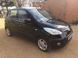 HYUNDAI I10 1.2 Comfort, FSH, MOT March 2018, £30 Tax (black) 2010