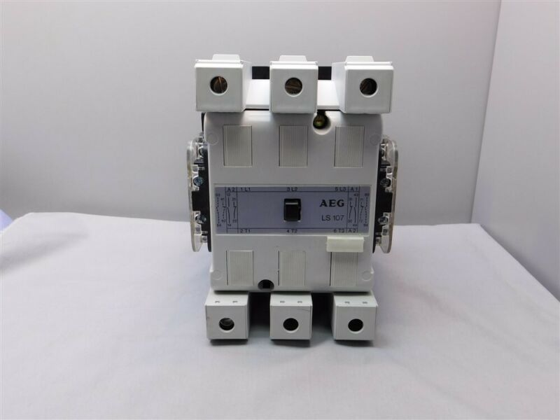 AEG LS107 3-Pole 150A 600V Contactor, 110/120V 50-60Hz Coil w/2 Aux. Contacts