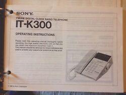 Sony Dreamline Telephone Alarm Clock IT-K300 Radio Operating Instructions Manual