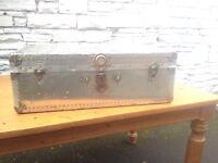 Vintage Aluminium Steamer Trunk Blanket Box Prop Display