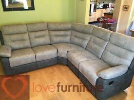 Fabric Corner Recliner Sofa