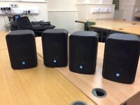 4 x RCF 4T Monitor Studio Speakers including wall mounts.