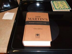 MARTINS 2009 ANNUAL CRIMINAL CODE POLICE EDITION