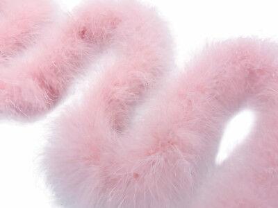 2 Yards - Baby Pink Turkey Medium Weight Marabou Feather Boa 25 Gram Craft Party (Pink Boa)