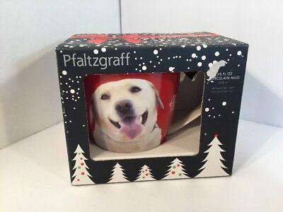 Used, Pfaltzgraff 18 Oz Porcelain Ceramic Golden Tan Labrador Retriever Dog Coffee Mug for sale  Bellmawr