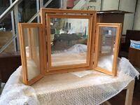 New Triple Pine Freestanding Mirror