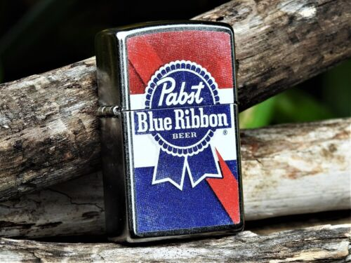 Zippo Lighter - Pabst Blue Ribbon Beer - PBR - Pabst Brewing Company - Lager