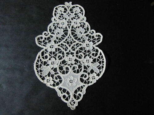 "Antique Insert for Dress or Craft 12"" Handmade Reticella Needle Lace Unused"