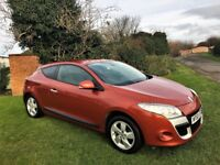 RENAULT MEGANE 1.6 Coupe Tom Tom, MOT Nov 2018 (orange) 2010