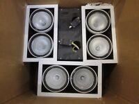 4 large Twin Spotlight Lights