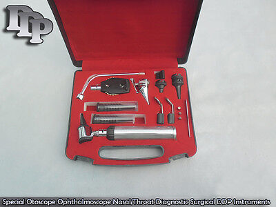Ent Ophthalmoscope Otoscope Diagnostic Set Earnose Throat Set