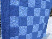 New Blue Twin Quilt