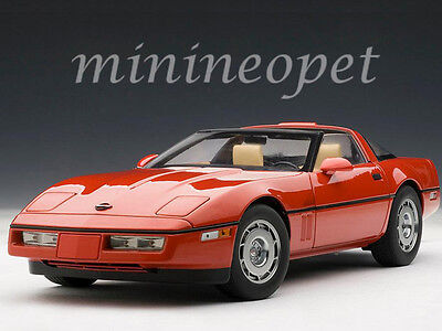 AUTOart 71241 1986 86 CHEVROLET CORVETTE 1/18 DIECAST MODEL CAR BRIGHT RED