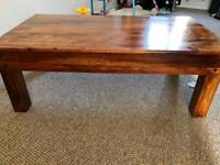 Solid wood Rectangular Coffee Table