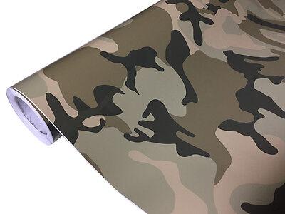 Camouflage Folie 200cm x 152cm Luftkanäle Car Wrap Autofolie #1