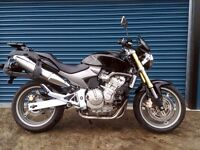 BLACK HONDA CB600 HORNET CB600F 2007 Only 16,000 miles Full GIVI Luggage