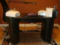 Manicure table with built in ventilation system for sale