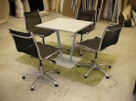 Dining / canteen table with 4 chairs. 2+ available