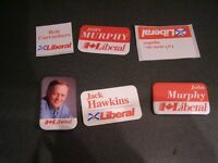 Collection of 6 Political Buttons