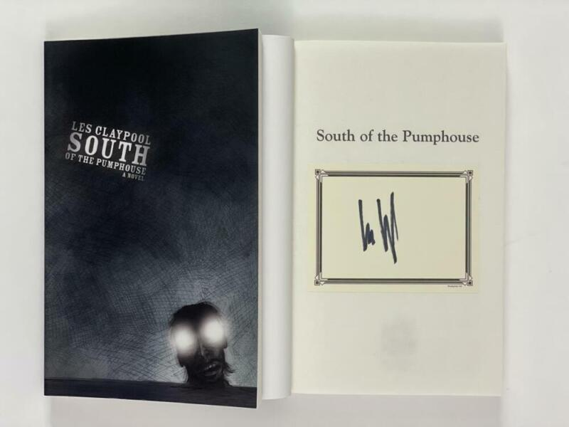"""LES CLAYPOOL OF PRIMUS SIGNED AUTOGRAPH """"SOUTH OF THE PUMPHOUSE"""" BOOK - RARE!"""