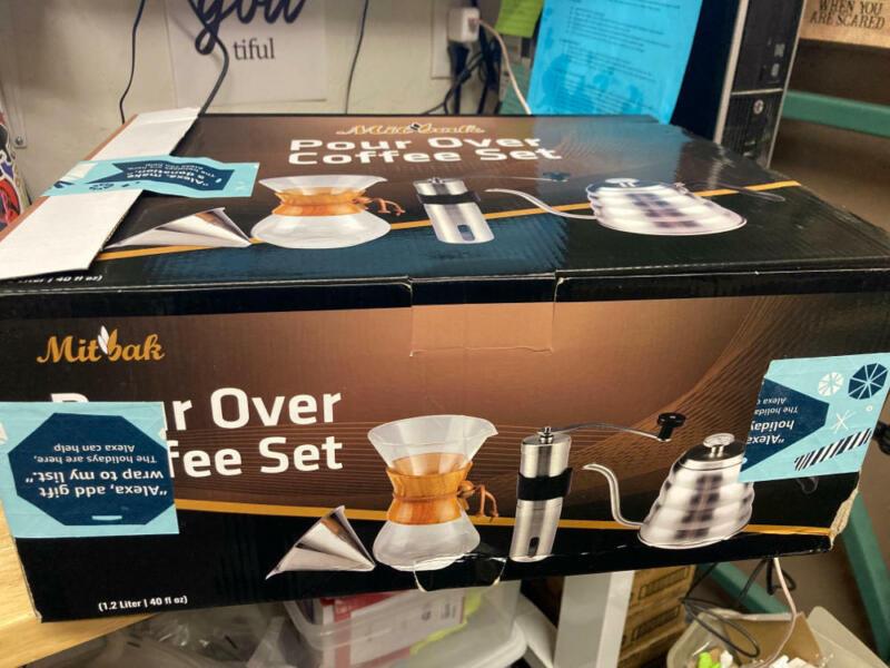 MITBAK Pour Over Coffee Maker Set | Kit Includes 40 OZ Gooseneck Kettle with