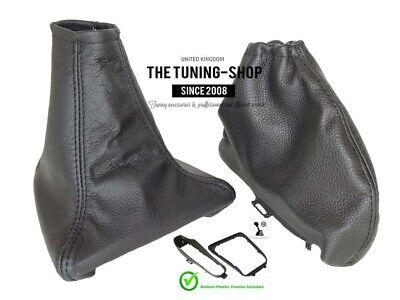 For Jaguar X Type 01-09 Shift E Brake Boot Black Leather + Frames