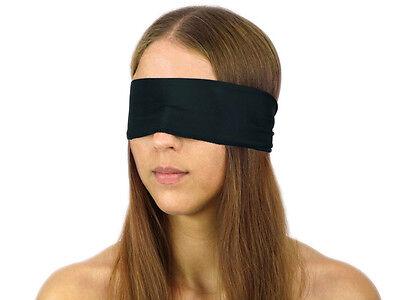 Blindfold Bondage Stoff Augenbinde BDSM Style Schal Augen Binde schwaz Nr.2012