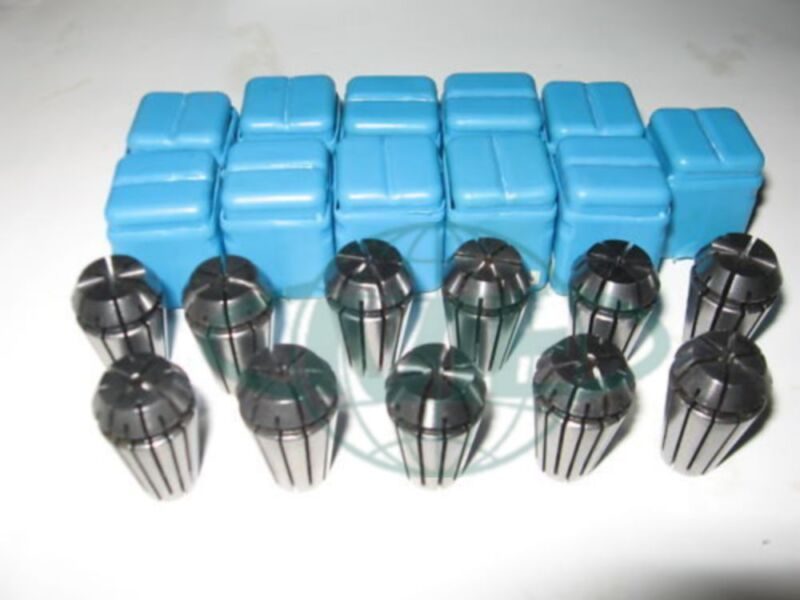 "ER16 COLLET SET--1/16"" up to 3/8"" by 16th --11 COMMON SIZES #ER16-SET11--NEW"