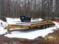 24 foot float equipment hauler