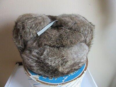 Vintage Liu Li He Fur hat. with box.  Brown