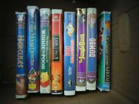 8 Disney Classic Movies on VHS